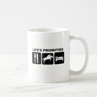 Life's priorities, RIDING Basic White Mug