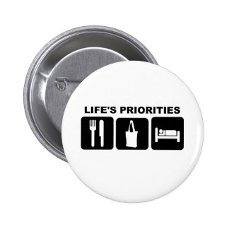 Life's priorities, Shopping Button
