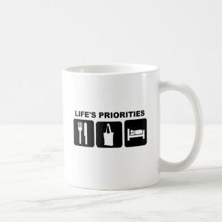 Life's priorities, Shopping Coffee Mugs