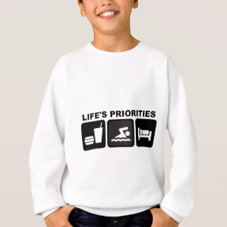 Life's Priorities, Swimming Sweatshirt