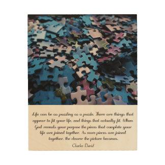 Life's Puzzle Wood Print