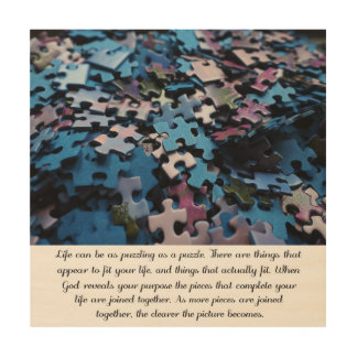 Life's Puzzle Wood Wall Art
