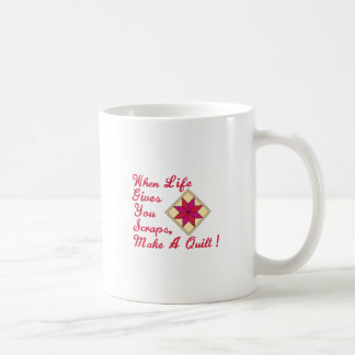 Lifes Scraps Quilting Basic White Mug