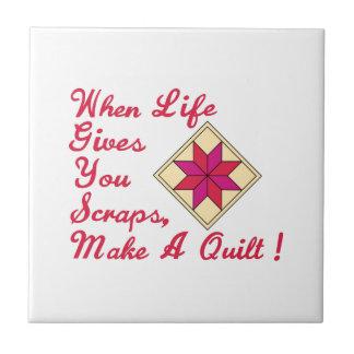 Lifes Scraps Quilting Small Square Tile