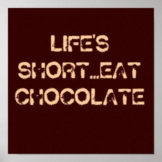 Eat Chocolate Posters | Zazzle.co.uk