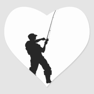 Life's short, fish hard heart sticker