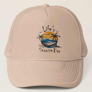 Life's Snooze Bar Trucker Hat