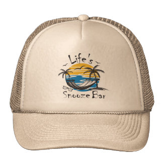 Life's Snooze Bar Trucker Hat