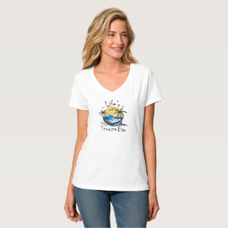 Life's Snooze Bar Women's Nano V-Neck T-Shirt