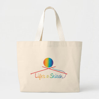Lifes Stitch Tote Bags