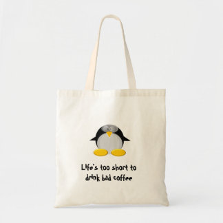Life's too short to drink bad coffee budget tote bag