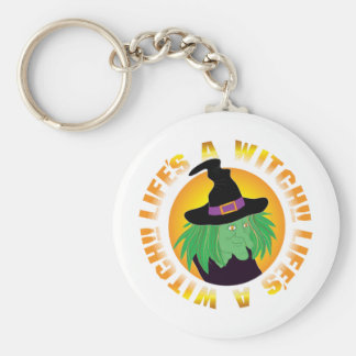 Lifes Witch Basic Round Button Key Ring