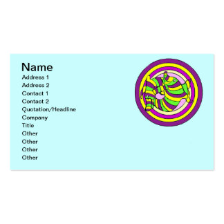 Lifesaver Dolphins into the swirl. Pack Of Standard Business Cards