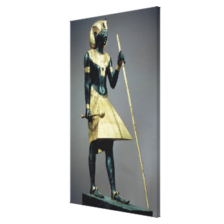 Lifesize statuette of the king canvas print