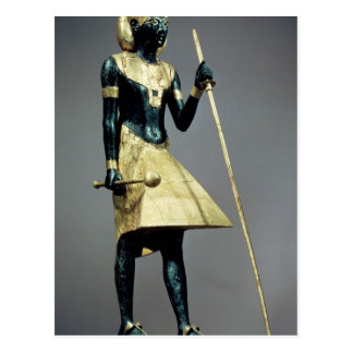 Lifesize statuette of the king postcards