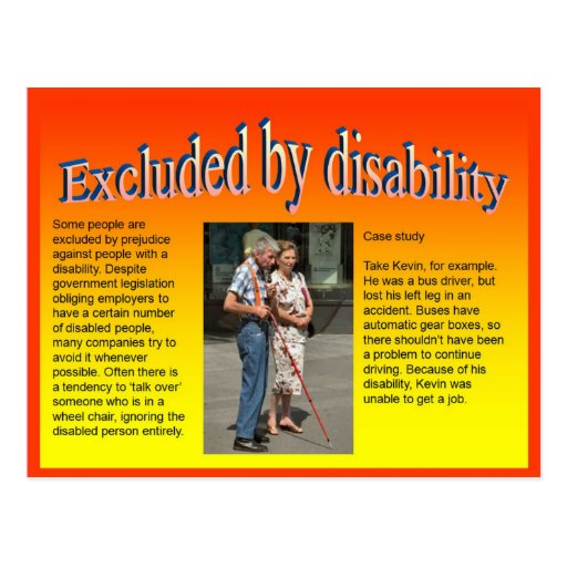 Lifeskills, Citizenship, Excluded by Disability Postcards