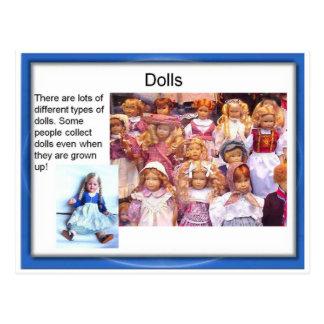 Lifeskills, toys, dolls postcard