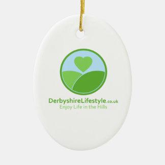 Lifestyle clothing ceramic oval decoration