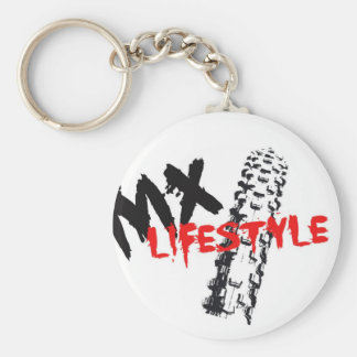 LifeStyle motocross Basic Round Button Key Ring