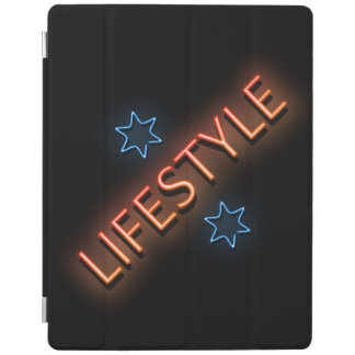 Lifestyle neon sign. iPad cover