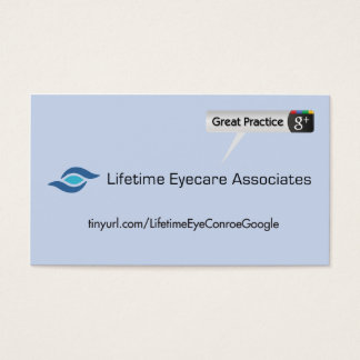 Lifetime Eyecare Associate Business Card