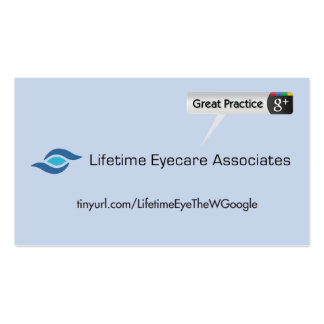 Lifetime Eyecare Associates Double-Sided Standard Business Cards (Pack Of 100)
