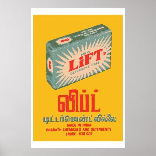 LIFT (Indian vintage matchbox cover) Poster