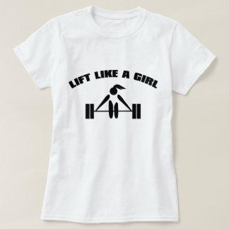 Lift like a girl - black T-Shirt