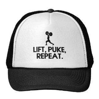 Lift, Puke, Repeat Funny Design Cap