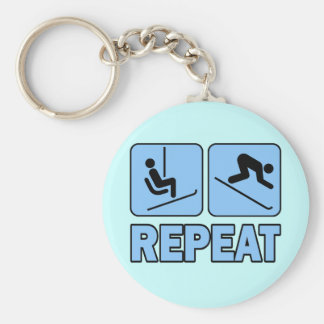 LIFT - SKI - REPEAT BASIC ROUND BUTTON KEY RING