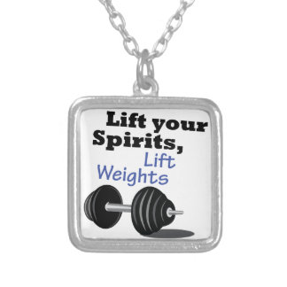 Lift Your Spirits Square Pendant Necklace