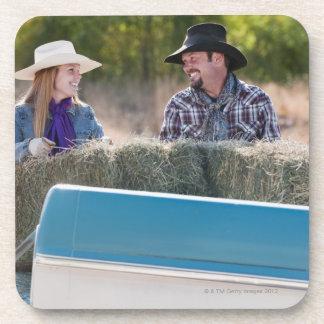Lifting bales of hay coasters