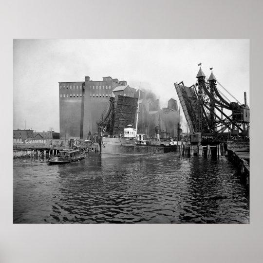 Lifting Bridge, Buffalo: 1900 Poster