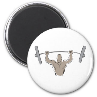 Lifting Weights 6 Cm Round Magnet