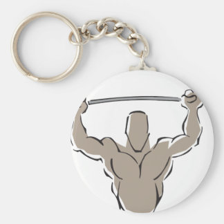 Lifting Weights Keychains