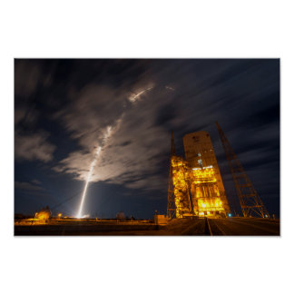 Liftoff of Cygnus Cargo Ship, on Mission to ISS Poster