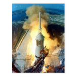 Liftoff of the Apollo 11 Saturn V Space Vehicle
