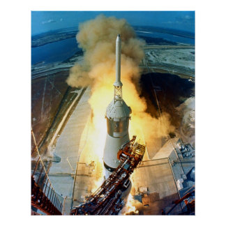 Liftoff of the Apollo 11 Saturn V Space Vehicle Print
