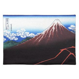 Lighning on Mt. Fuji Classic Japanese Print Place Mats