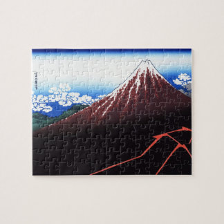 Lighning on Mt. Fuji Classic Japanese Print Jigsaw Puzzle