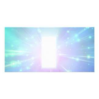 Light Abstract Personalized Photo Card