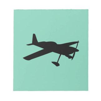 light aircraft plane notepad