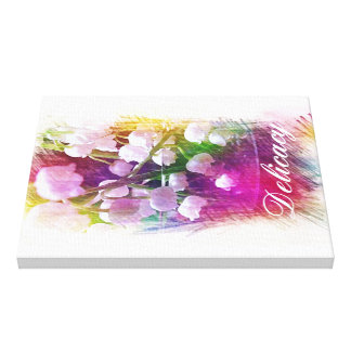 Light Airy Lily of the Valley Abstract Botanical Canvas Print