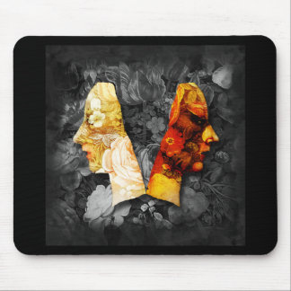 Light and Dark 3 Digital Collage Mousepad