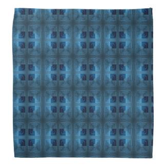 Light And Dark Blue Square Retro Pattern Bandana