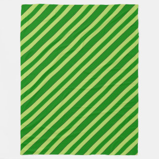 Light And Dark Green Stripes Fleece Blanket