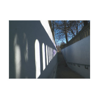 Light and Shadow Pathway Photograph Canvas Gallery Wrapped Canvas