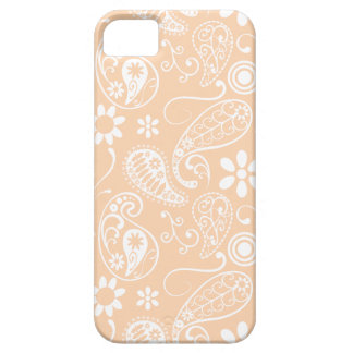 Light Apricot Paisley; Floral iPhone 5 Cases