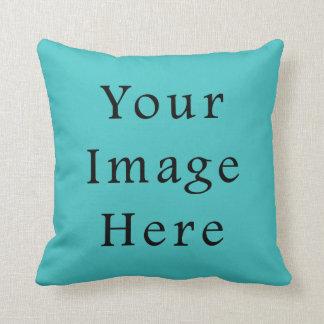 Light Aqua Blue Color Trend Blank Template Throw Pillows