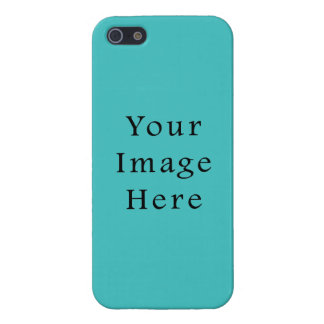 Light Aqua Blue Color Trend Blank Template iPhone 5/5S Cases